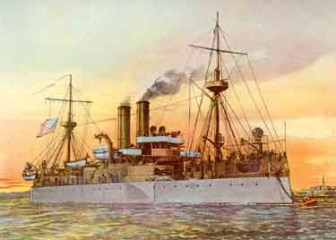 USS Maine's Last Sunset
